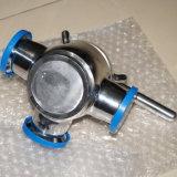 Valvola a rubinetto sanitaria di controllo dell'acciaio di pezzo fuso dell'acciaio inossidabile