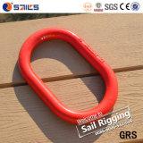 赤い塗られたWeldless合金鋼鉄低下はチェーンマスターのリングを造った