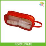 Bolso plástico de pie del cierre relámpago de la alta calidad con el borde aflautado
