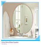 Forme ronde Salle de bains en verre décoratif miroir d'argent