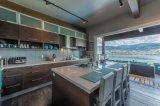 Armadio da cucina di legno dell'impiallacciatura di stile della mobilia di legno classica della cucina