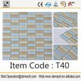 Mattonelle di mosaico spagnole, mosaico delle mattonelle della parete del metallo di colore dell'oro