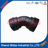 ISO2531 ferro fundido dúctil Di raio longo soquete Weld cotovelo encaixe de tubulação