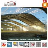 aluminium de forme de dôme de largeur de 40m et tente de bâti de PVC avec la hauteur latérale de 8m pour l'exposition et les événements extérieurs