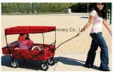 Carro de dobramento Fw3016 do vagão do transporte do saco popular vermelho do miúdo
