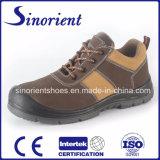 De dubbele Schoenen van de Veiligheid van de Dichtheid Pu Outsole met Nubuck Leer Snn427