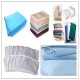 100%年の綿の病院の寝具シート