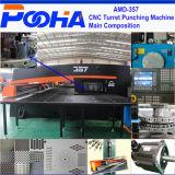 Amada AMD-357 hydraulische Mittellinien-Locher-Maschine der CNC-Drehkopf-lochende Presse-Maschinen-3/4
