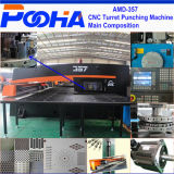 Amada AMD-357 유압 CNC 포탑 구멍 뚫는 기구 기계 3/4 축선 펀치 기계