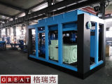 Compresseur d'air rotatoire de vis de rotors de jumeau de basse pression