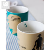 Estilo atrativo do preço do competidor da caneca do chá da porcelana de China