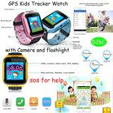 カメラおよび懐中電燈(D26C)が付いている方法GPS追跡者の腕時計