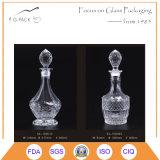 Botella de las jarras del brandy/botellas de cristal grabadas de los licores