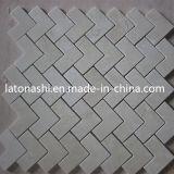 Modèle de mosaïque en marbre bon marché, mosaïque en chevrons mosaïque