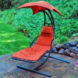 ハングのChaiseのLoungerの椅子のポーチの振動ハンモックの椅子のおおい
