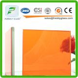 최신 판매 좋은 품질 주황색 박판으로 만들어진 유리