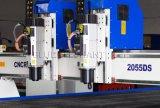 Do router separado do CNC de China de 2055 cabeças do dobro multi eixo, máquinas de gravura para a venda, maquinaria de Woodworking do CNC