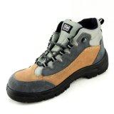 Стальные ботинки работы безопасности кожи крышки пальца ноги и замши Midsole