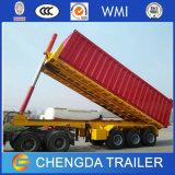 3 de Aanhangwagen van de Container van assen 40FT, de Hydraulische Flatbed Aanhangwagen van de Container van de Kipper