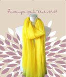 Venta caliente nueva moda mujer amarilla larga Bufanda de invierno