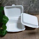 Ecoの友好的なバガスのディナー・ウェアの使い捨て可能なクラムシェルの食糧容器
