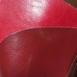ソファーの家具のための光沢のあるPU革Tcの背皮