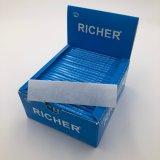 Более богатая медленная горящая сигаретная бумага риса с линиями