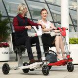 3개의 바퀴 Foldable 전기 스쿠터 기동성 스쿠터 전기 자전거
