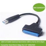"""L'adaptateur SATA III Câble USB 3.0 Disque dur externe USB to Serial ATA Disque dur du convertisseur 22la broche 6 Gbps pour disque dur/SSD 2,5"""""""
