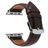 Band van het Horloge van het Leer van de Stijl van Dw de Echte voor het Horloge van de Appel, de Band van het Leer van Iwatch Wriststrap