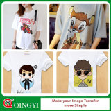 Couleur Qingyi grande lumière Version imprimable Transfert de chaleur pour T-shirt en vinyle