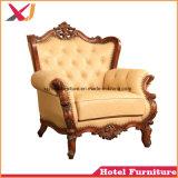 Bois de haute qualité roi et reine fauteuil canapé pour mariage