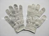 Связанный хлопок верхнего качества и перчатка безопасности работы содержания промышленная сырцовая