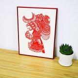 Venta caliente de aluminio de color rojo precio de fábrica de imagen