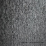 Schwarzes Chenille-Ebenen-Sofa-Gewebe (FTH31118)