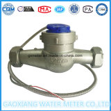 Mètre magnétique d'activité de l'eau du corps Dn32 de cadran sec inoxidable de Multi-Gicleur