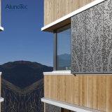 Алюминиевые настенные панели перфорированные декоративные фасад план