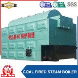 Chaudière à vapeur horizontale de charbon avec des pièces de chaudière