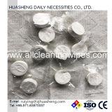 100%Biodegradable Flushable使い捨て可能なビスコースマジック圧縮されたタオルの小型硬貨のティッシュ