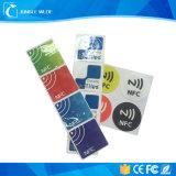 Mini NFC etiqueta imprimible del PVC RFID con la etiqueta engomada adhesiva