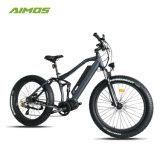 Bicyclette électrique 1000W de plein de suspension gros entraînement de pneu MI