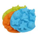 La FDA délivrent un certificat le moulage matériel de silicones de catégorie comestible, 8PCS pour le moulage de /Chocolate de moulage de pudding de silicones de forme de guindineau/forme de coléoptère/forme de libellule