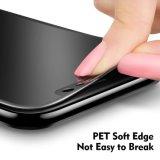 Película suave del protector de la pantalla del vidrio Tempered del borde de la curva del capítulo de la cobertura total 3D de la aislamiento 0.23m m del Anti-Espía de Ctunes para el iPhone X