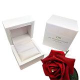 Weiße Farben-Hochzeits-Ring-Ohrring-Speicherung gedruckter Geschenk-Schmucksache-Kasten