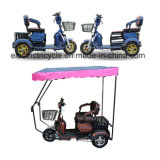 A buon mercato 2 sedi tre un motorino elettrico Trike delle 3 rotelle per gli anziani
