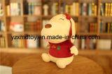 詰められたかわいい男の子および女の子犬のプラシ天犬のおもちゃ