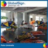 ビーチパラソルの日曜日習慣によって印刷されるパラソルのテラスの傘の広告