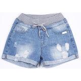 2018 краткостей джинсовой ткани хлопка вскользь тонкой пригонки женщин весны миниых