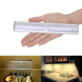 LED 10 Luz noturna automático ligado/desligado Stick-em qualquer lugar sem Fio da Bateria do sensor de movimento escada de luz LED