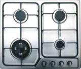 Vetro nero con il fornello di gas elettrico della barra di alluminio